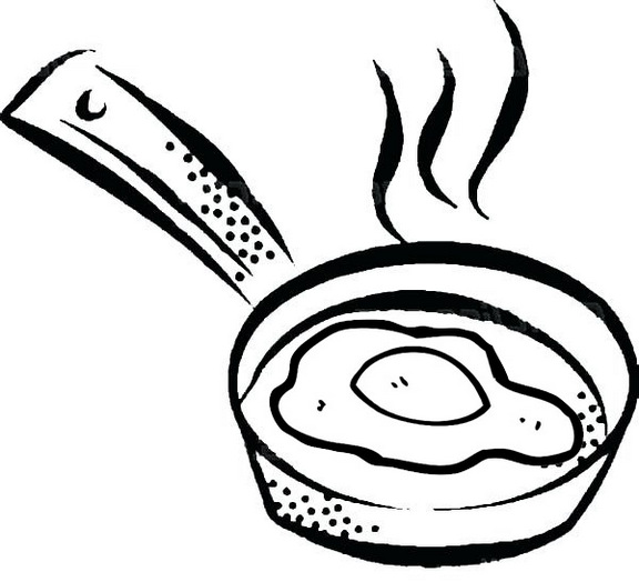 Cook Fried Egg Coloring Page