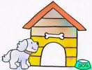 Seven Fun Dog House Coloring Pages for Kids