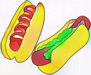 Hotdog coloring art work