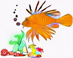 Lion Fish Coloring Result Art