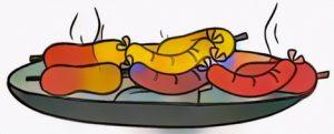 Sausage coloring art work