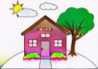 9 Adorable School House Coloring Pages for Kids