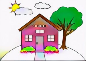 School House Coloring Result Art