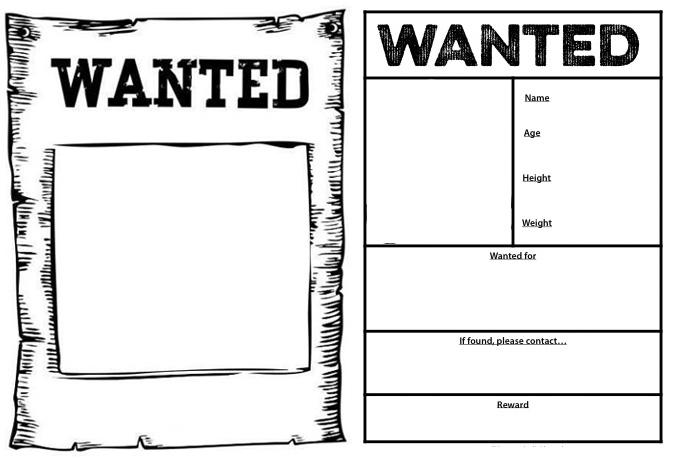 Wanted Poster Template Design