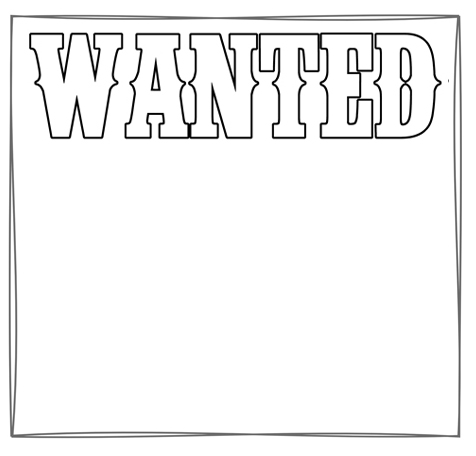 simple wanted poster template