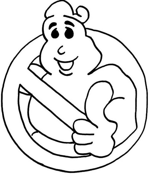 Winston Ghostbusters Coloring Page