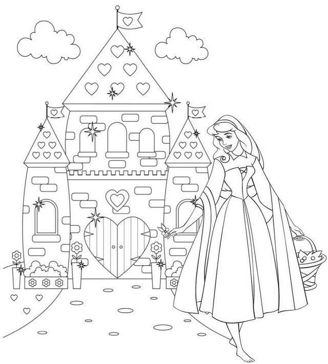 Wonderful Princess Aurora Disney Coloring Page of Sleeping Beauty