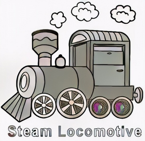 locomotive coloring result