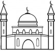 10 Most Beautiful Mosque Coloring Pages for Children