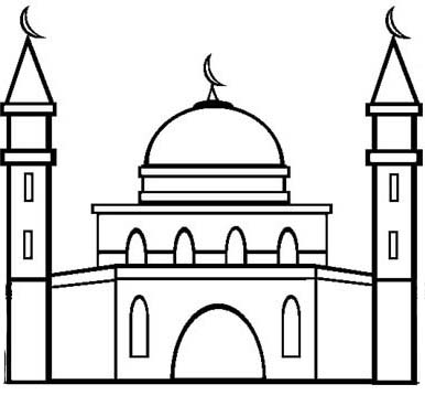 Simple amazing mosque clipart