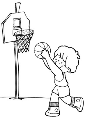 cute boy basketball coloring page