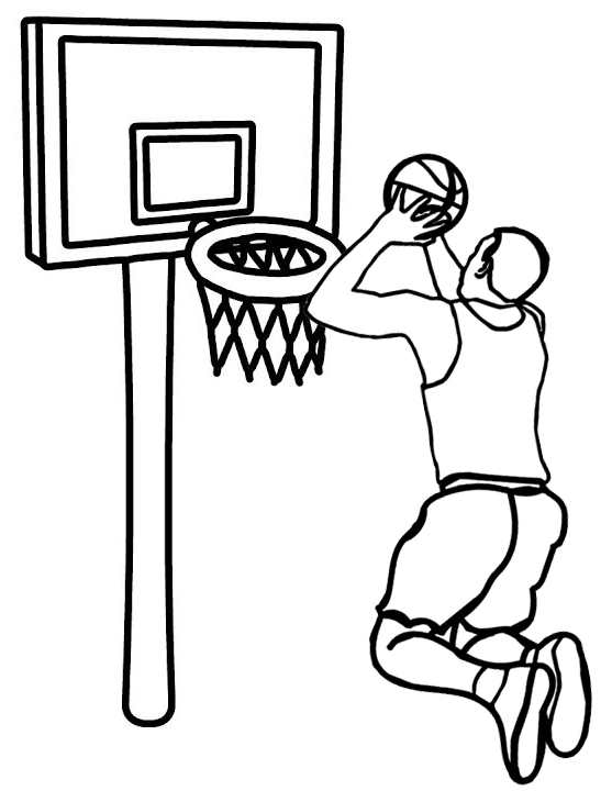 professional basketball player coloring page