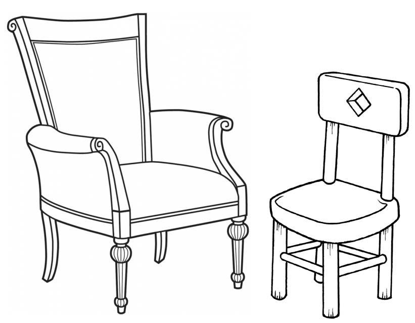 Old Chair Coloring Page